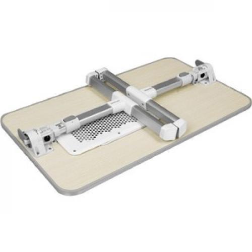 Aluratek Adjustable Ergonomic Laptop Cooling Table With Fan Bottom/500