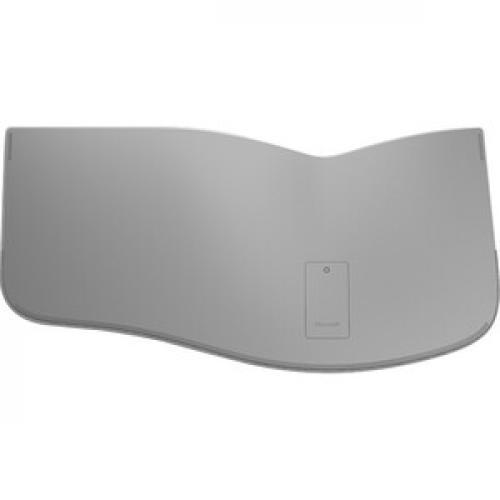 Microsoft Surface Ergonomic Keyboard Gray   Wireless   Bluetooth   QWERTY Key Layout   Made W/ Alcantara Material   Compatible W/ Notebook & Smartphones Bottom/500