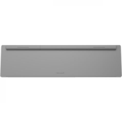 Microsoft Surface Keyboard Gray   Wireless   Bluetooth   Compatible W/ Smartphone   QWERTY Key Layout   Sleek & Simple Design Bottom/500