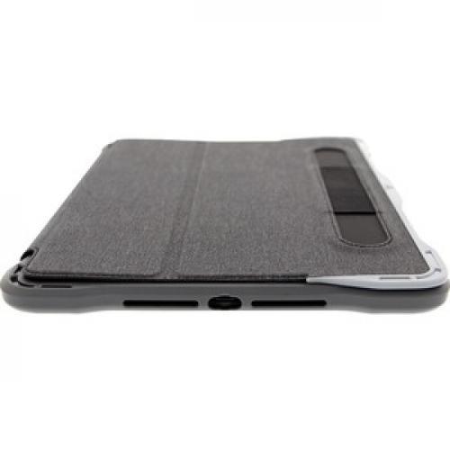 "Brenthaven Edge Folio III Carrying Case (Folio) For 10.2"" Apple IPad (7th Generation) Tablet   Gray, Translucent Bottom/500"
