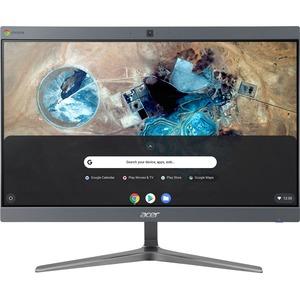"Acer Chromebase 24 CA24I2 All In One Computer   Intel Celeron 3867U Dual Core (2 Core) 1.80 GHz   4 GB RAM DDR4 SDRAM   128 GB SSD   23.8"" Full HD 1920 X 1080   Desktop Front"