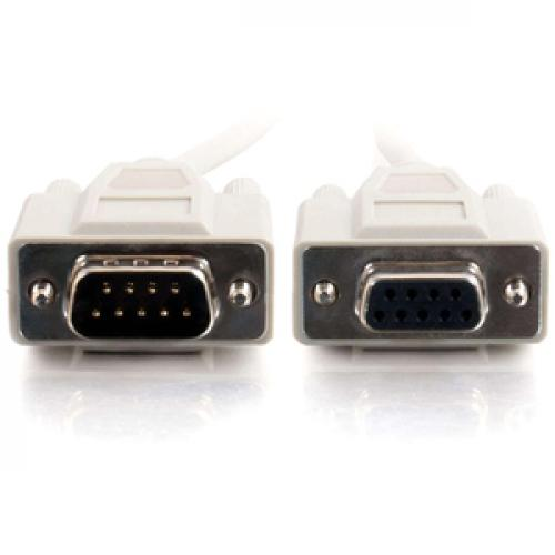 C2G 3ft DB9 M/F Extension Cable   Beige Front/500