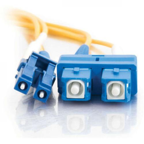 C2G 7m LC SC 9/125 Duplex Single Mode OS2 Fiber Cable   Yellow   23ft Front/500