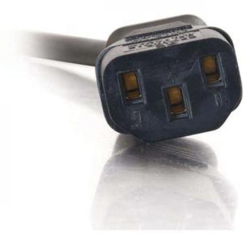 C2G 3ft 18 AWG Universal Flat Panel Power Cord (NEMA 5 15P To IEC320C13) Front/500