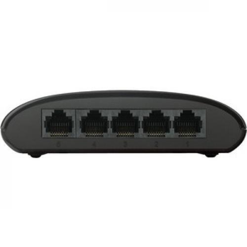 D Link DGS 1005G 5 Port Gigabit Unmanaged Desktop Switch Front/500