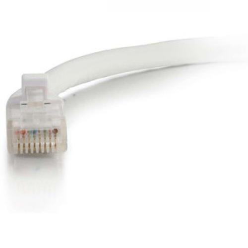 C2G 10ft Cat5e Ethernet Cable   Snagless Unshielded (UTP)   White Front/500
