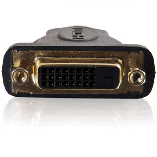 C2G Velocity DVI D Female To HDMI Male Inline Adapter Front/500