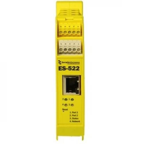 Brainboxes Industrial Ethernet To Serial 2xRS232/422/485 Front/500