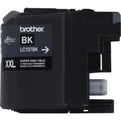 Brother Genuine Innobella LC107BK Super High Yield Black Ink Cartridge Front/500