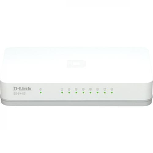 D Link GO SW 8G 8 Port Gigabit Unmanaged Desktop Switch Front/500