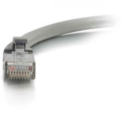 C2G 12ft Cat5e Snagless Unshielded (UTP) Network Patch Ethernet Cable Gray Front/500