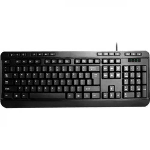 Adesso AKB 132   Spill Resistant Multimedia Desktop Keyboard (USB) Front/500
