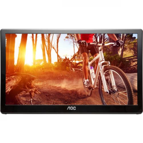 "AOC E1659FWU 16"" LED USB Powered Portable Monitor With Case Front/500"