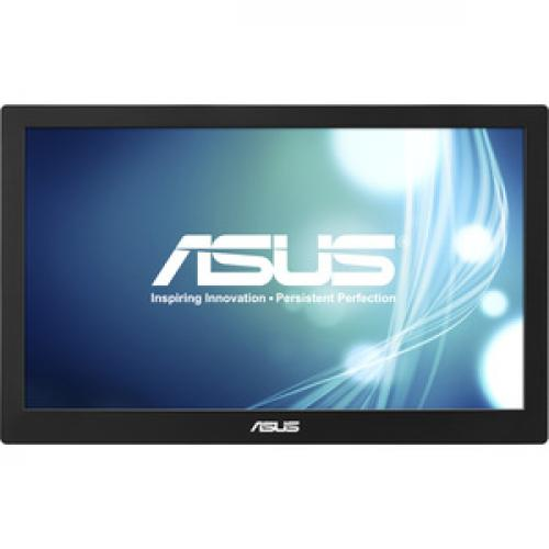 "Asus MB168B 15.6"" HD LED LCD Monitor   16:9   Black, Silver Front/500"