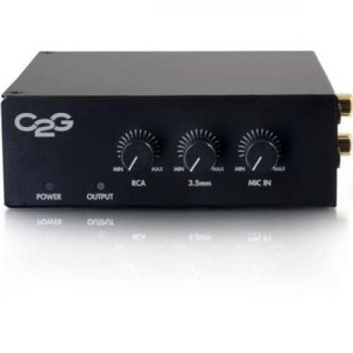 C2G 50W Audio Amplifier   Plenum Rated   8 Ohm Front/500
