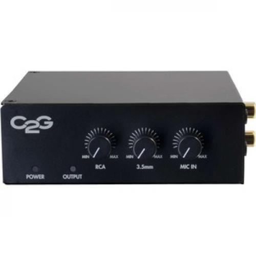 C2G 25/70V 50W Audio Amplifier   Plenum Rated Front/500