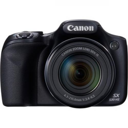 Canon PowerShot SX530 HS 16 Megapixel Compact Camera   Black Front/500