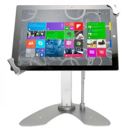 CTA Digital Universal Dual Security Kiosk With Locking Holder And Anti Theft Cable For 7 13 Inch Tablets Front/500