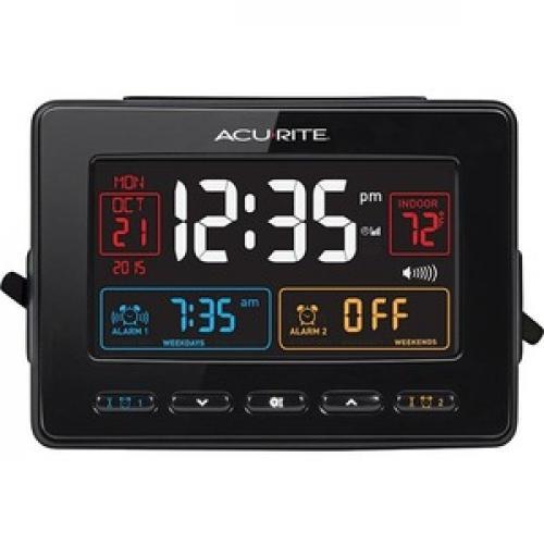 AcuRite Atomic Dual Alarm Clock Front/500