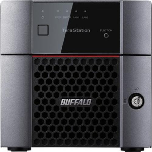 Buffalo TeraStation 3210DN Desktop 8 TB NAS Hard Drives Included Front/500