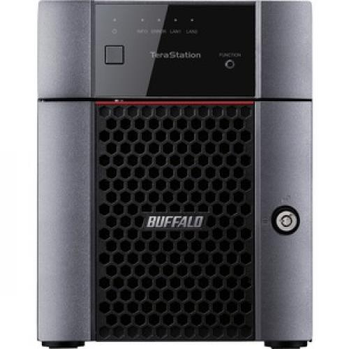 Buffalo TeraStation 3410DN Desktop 12 TB NAS Hard Drives Included Front/500