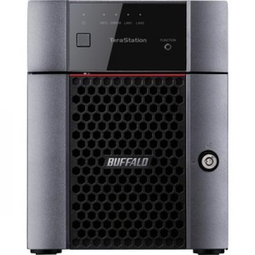 Buffalo TeraStation 3410DN Desktop 16 TB NAS Hard Drives Included Front/500