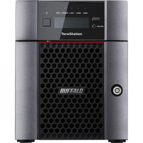 Buffalo TeraStation 5410DN Desktop 24TB NAS Hard Drives Included Front/500
