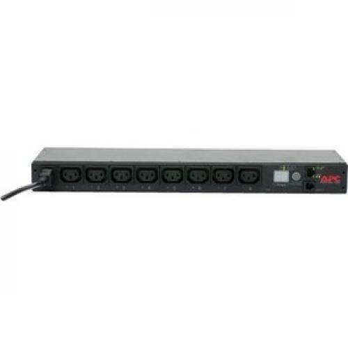 APC By Schneider Electric Rack PDU, Switched, 1U, 12A/208V, 10A/230V, (8)C13 Front/500