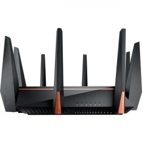 Asus ROG Rapture GT AC5300 IEEE 802.11ac Ethernet Wireless Router Front/500