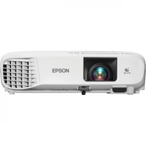 Epson PowerLite 107 LCD Projector   White, Gray Front/500