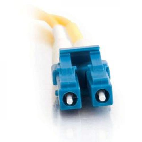 C2G 5m LC LC 9/125 Duplex Single Mode OS2 Fiber Cable   Yellow   16ft Front/500