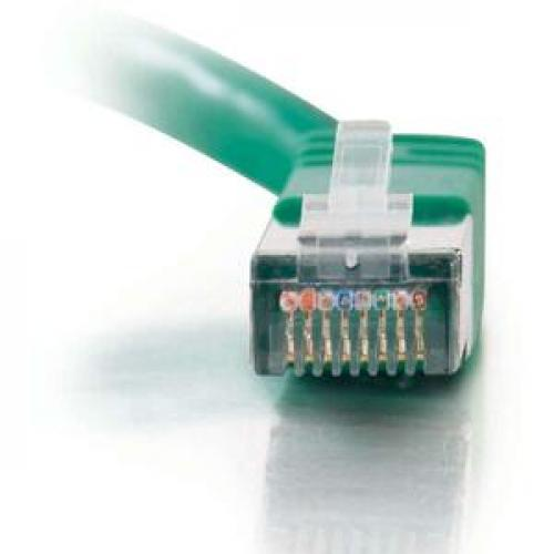 C2G 25ft Cat5e Molded Shielded (STP) Network Patch Cable   Green Front/500