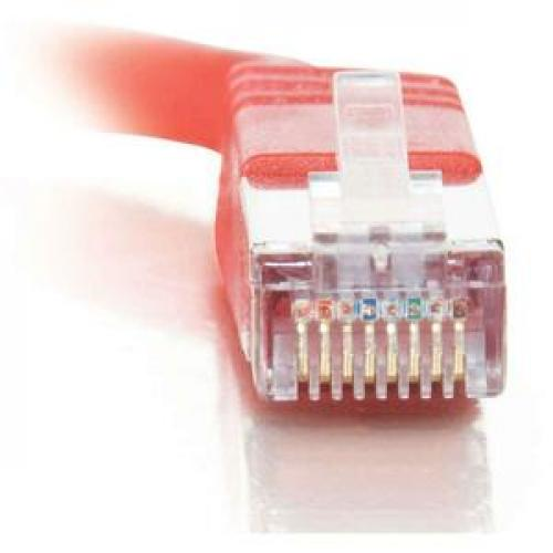 C2G 5ft Cat5e Molded Shielded (STP) Network Patch Cable   Red Front/500