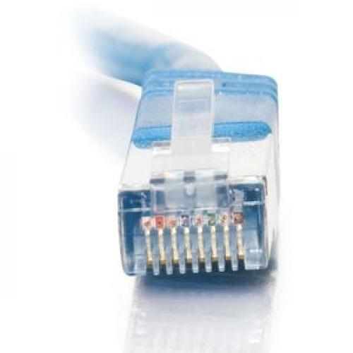 C2G 7ft Cat5e Molded Shielded (STP) Network Patch Cable   Blue Front/500