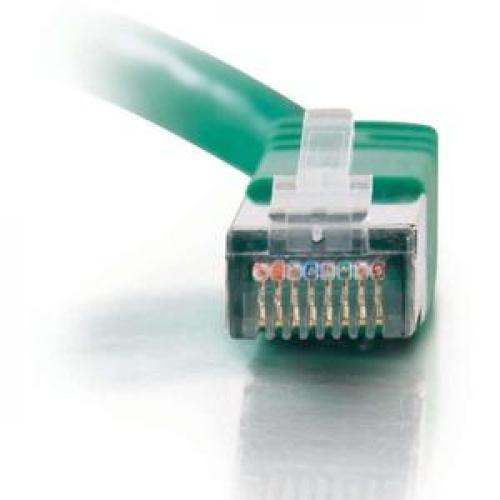 C2G 7ft Cat5e Molded Shielded (STP) Network Patch Cable   Green Front/500