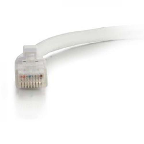 C2G 5ft Cat6 Ethernet Cable   Snagless Unshielded (UTP)   White Front/500