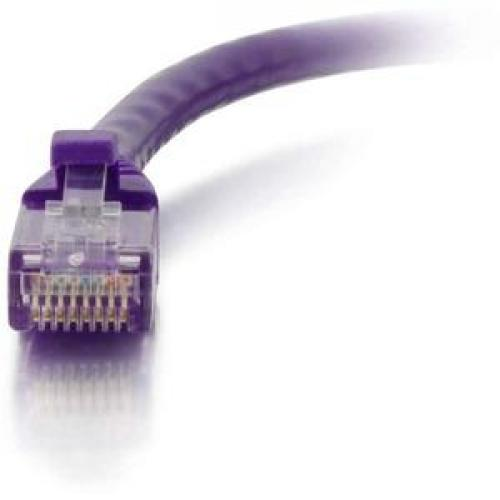 C2G 25ft Cat6 Snagless Unshielded (UTP) Network Patch Cable   Purple Front/500
