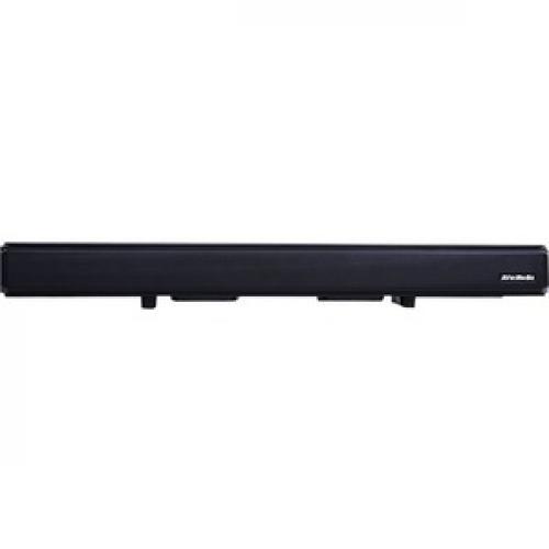 AVerMedia SonicBlast GS333 2.1 Bluetooth Sound Bar Speaker   60 W RMS   Black, Blue Front/500