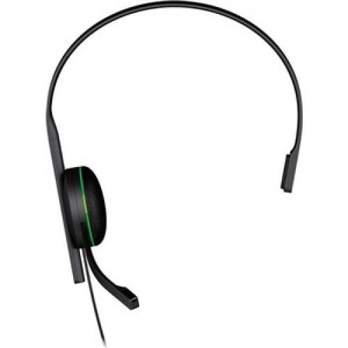 Xbox One CHAT Headset Black     Wired   Designed For Comfort   Adjustable Volume Settings   Monaural Earpiece   No Batteries Needed Front/500