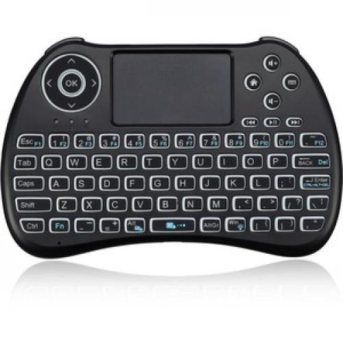 Adesso SlimTouch 4040   Wireless Illuminated Keyboard With Built In Touchpad Front/500