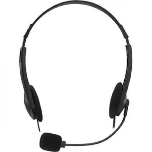 Adesso Xtream H4   3.5mm Stereo Headset With Microphone   Noise Cancelling   Wired  6 Ft Cable  Lightweight Front/500