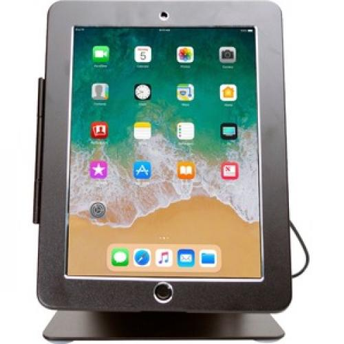 CTA Digital Desktop Anti Theft Stand Ipad Black Case Rotates 360 Degrees Front/500