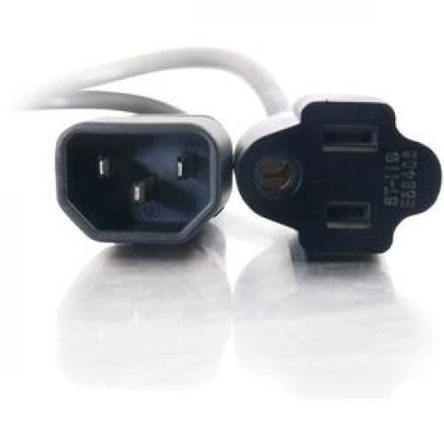 C2G 3ft 18 AWG Monitor Power Adapter Cord (IEC320C14 To NEMA 5 15R) Front/500
