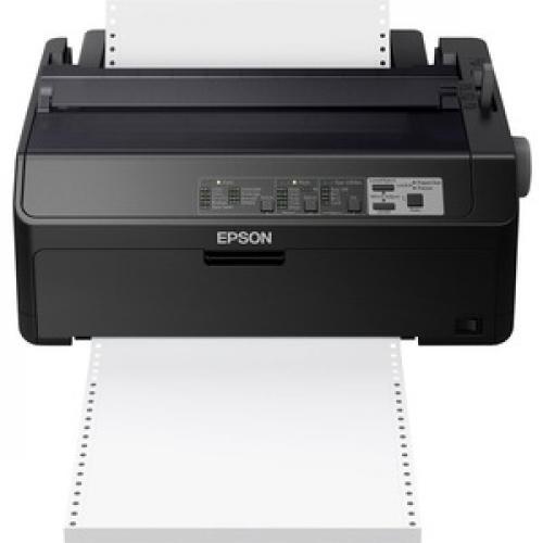 Epson LQ 590II 24 Pin Dot Matrix Printer   Monochrome   Energy Star Front/500