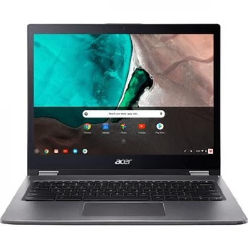 "Acer Spin 13 13.5"" 2 In 1 Chromebook Intel Core I5 8GB RAM 64GB EMMC Gray   8th Gen I5 8250U Quad Core   Touchscreen   Intel UHD Graphics 620   In Plane Switching Technology   Chrome OS   10 Hr Battery Life Front/500"