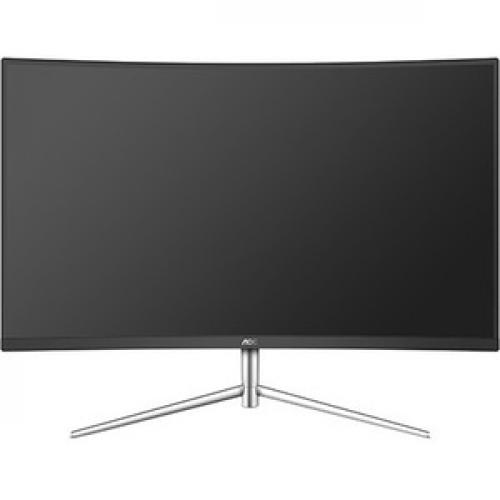 "AOC C32V1Q 31.5"" Full HD Curved Screen LCD Monitor   16:9   Black, Silver Front/500"