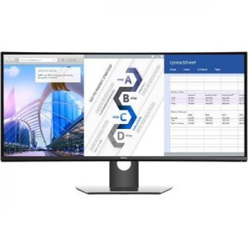 "Dell UltraSharp 34"" Curved Monitor     3440 X 1440 WQHD Display   60 Hz Refresh Rate   In Plane Switching Technology   Picture In Picture Features   Dual 9W Speakers Front/500"