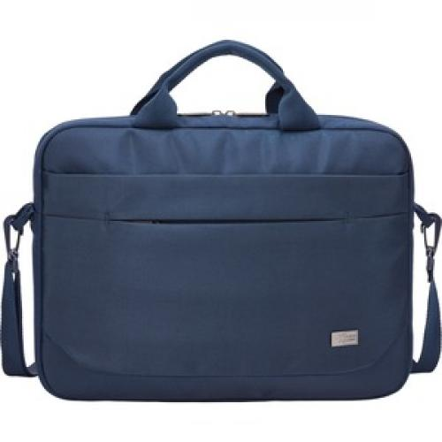 """Case Logic Advantage ADVA 114 DARK BLUE Carrying Case (Attaché) For 10"""" To 14.1"""" Notebook   Blue Front/500"""