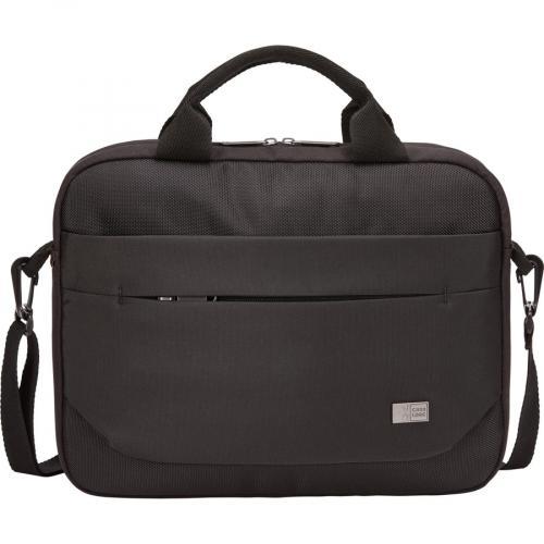 "Case Logic Advantage Carrying Case (Attaché) For 11.6"" Notebook, Tablet PC, Pen, Portable Electronics, Cord, Cellular Phone, File   Black Front/500"