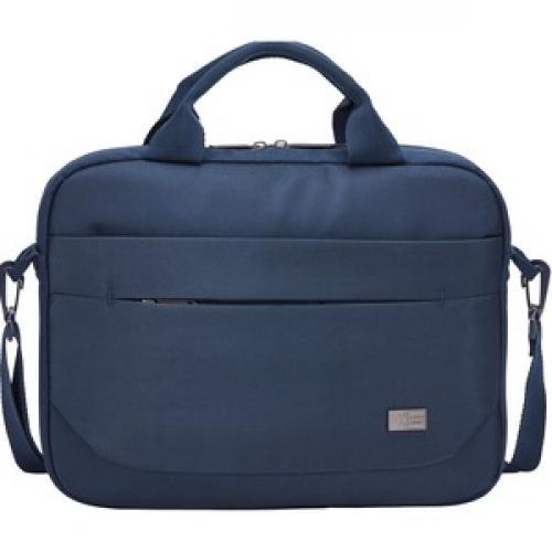 "Case Logic Advantage Carrying Case (Attaché) For 11.6"" Notebook, Tablet PC, Pen, Portable Electronics, Cord, Cellular Phone, File   Dark Blue Front/500"